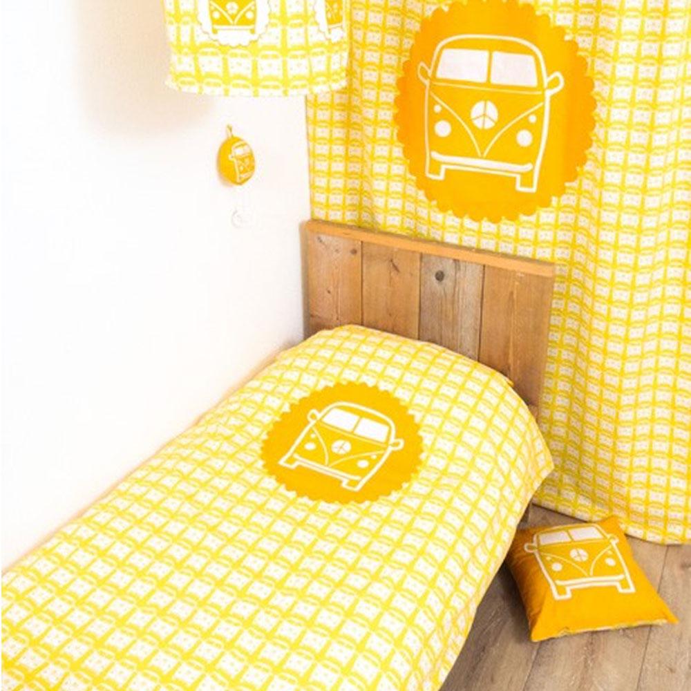 Funda n rdica cuna furgoneta amarillo cuna for Funda nordica amarilla