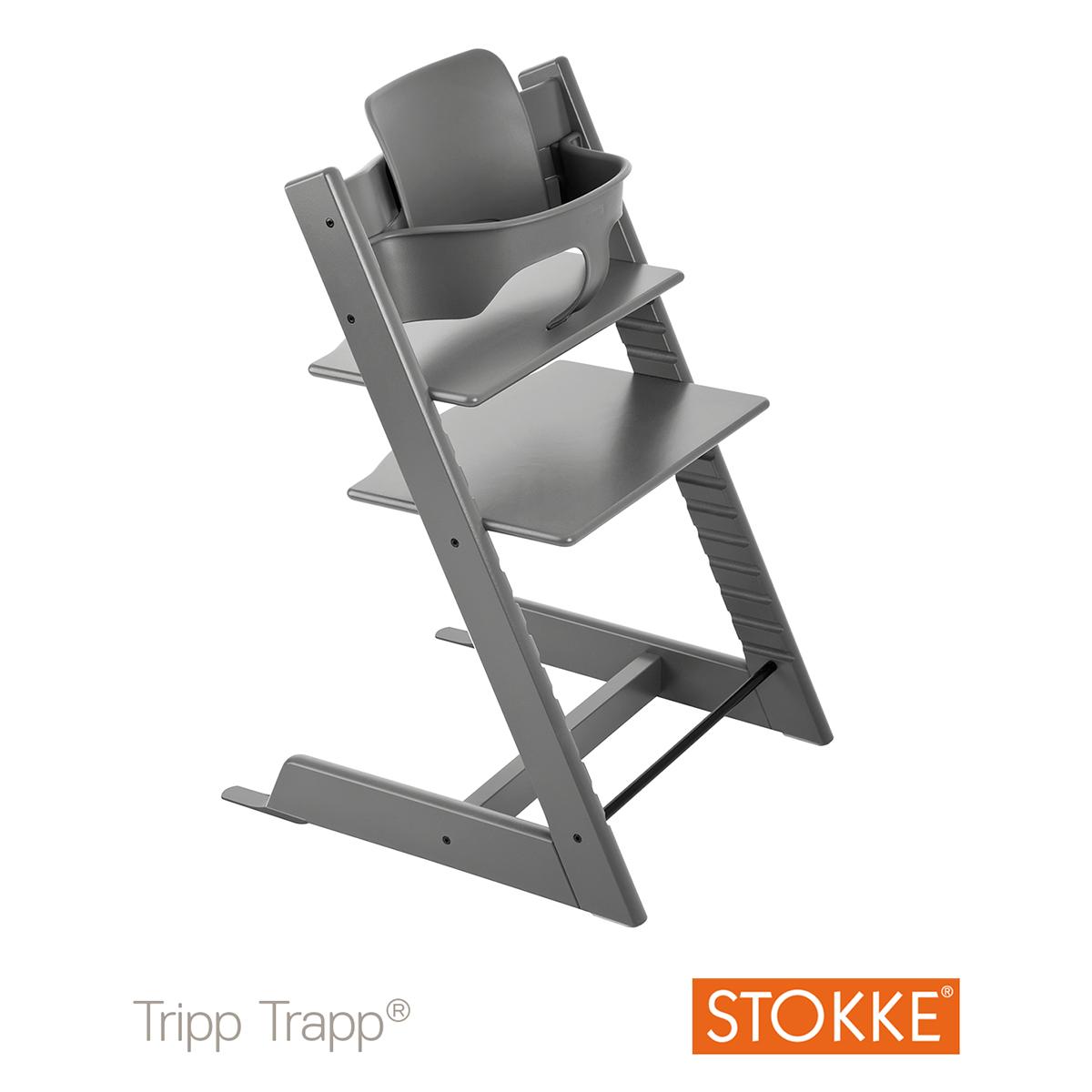 stokke tripp trapp trona gris tormenta tripp. Black Bedroom Furniture Sets. Home Design Ideas